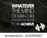 fitness motivation quotes | Shutterstock . vector #612394307