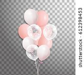 set of pink  white with... | Shutterstock . vector #612398453