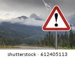 warning sign exclamation mark... | Shutterstock . vector #612405113
