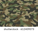 texture military camouflage... | Shutterstock .eps vector #612409073