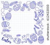 vector pattern for easter eggs  ... | Shutterstock .eps vector #612422033