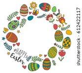 vector pattern for easter eggs  ... | Shutterstock .eps vector #612422117