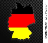 map of germany isolated on... | Shutterstock .eps vector #612442817
