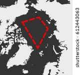 territory of the arctic  ... | Shutterstock .eps vector #612443063