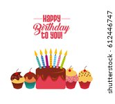 happy birthday design | Shutterstock .eps vector #612446747