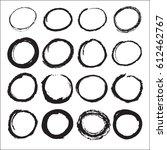 black circle in black. stylish... | Shutterstock .eps vector #612462767