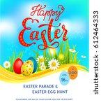 template easter card | Shutterstock .eps vector #612464333