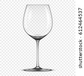 vector realistic empty wine... | Shutterstock .eps vector #612464537