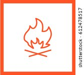 flame fire line vector icon | Shutterstock .eps vector #612478517