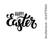 happy easter hand drawn... | Shutterstock .eps vector #612479363