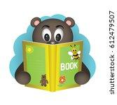 bear reading a book. children's ...   Shutterstock .eps vector #612479507