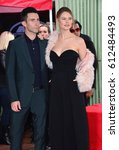 Small photo of LOS ANGELES, CA. February 10, 2017: Singer Adam Levine & wife Behati Prinsloo at the Hollywood Walk of Fame Star Ceremony honoring singer Adam Levine.