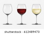 vector realistic wineglass icon ... | Shutterstock .eps vector #612489473