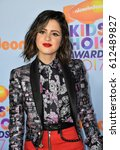 Small photo of LOS ANGELES, CA. March 11, 2017: Actress Laura Marano at the Nickelodeon 2017 Kids' Choice Awards at the USC's Galen Centre, Los Angeles