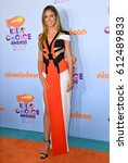 Small photo of LOS ANGELES, CA. March 11, 2017: TV presenter & model Heidi Klum at the Nickelodeon 2017 Kids' Choice Awards at the USC's Galen Centre, Los Angeles