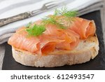 Smoked Salmon With Fresh Dill...