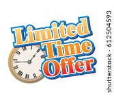 limited time only clock... | Shutterstock .eps vector #612504593