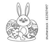 figure rabbit easter with...   Shutterstock .eps vector #612507497