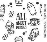 drink theme seamless pattern | Shutterstock .eps vector #612543023