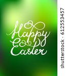 vector greeting text 'happy... | Shutterstock .eps vector #612553457
