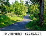 this paved bike and running... | Shutterstock . vector #612563177