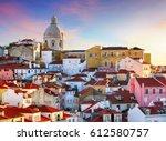 portugal  lisboa   old city...   Shutterstock . vector #612580757