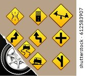 highway icon  sign symbol ...   Shutterstock .eps vector #612583907