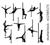 striptease silhouettes | Shutterstock .eps vector #612585173