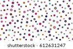 seamless circles pattern with...   Shutterstock .eps vector #612631247