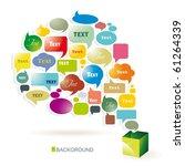 vector bubbles for speech | Shutterstock .eps vector #61264339