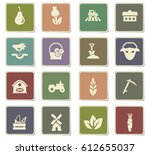 agriculture vector icons for... | Shutterstock .eps vector #612655037