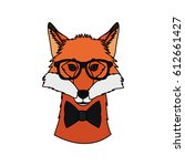 hipster animal icon image  | Shutterstock .eps vector #612661427