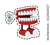 chattering teeth wind up toy... | Shutterstock .eps vector #612662027