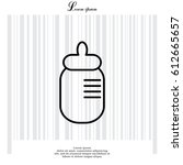 baby milk bottle flat icon....