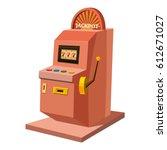 slot machine icon. cartoon... | Shutterstock .eps vector #612671027