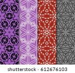 set of geometric ornament on...   Shutterstock .eps vector #612676103