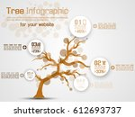 tree infographic modern orange | Shutterstock .eps vector #612693737