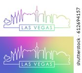 Stock vector las vegas skyline colorful linear style editable vector file 612694157