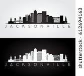 jacksonville usa skyline and...   Shutterstock .eps vector #612694163