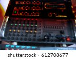 view of professional sound... | Shutterstock . vector #612708677