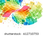 splash multicolored abstract... | Shutterstock .eps vector #612710753