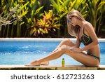 young slim beautiful woman in... | Shutterstock . vector #612723263