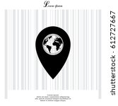 map pointer flat icon