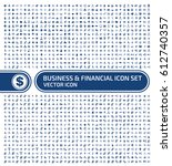 business and finance icon set... | Shutterstock .eps vector #612740357