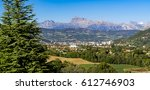 the hautes alpes city of gap in ... | Shutterstock . vector #612746903