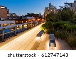 the highline at twilight in...   Shutterstock . vector #612747143