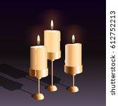 vector realistic burning... | Shutterstock .eps vector #612752213