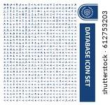 database icon set clean vector | Shutterstock .eps vector #612753203