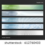 set design elements business... | Shutterstock .eps vector #612760433