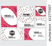 fresh background flyer style... | Shutterstock .eps vector #612775307